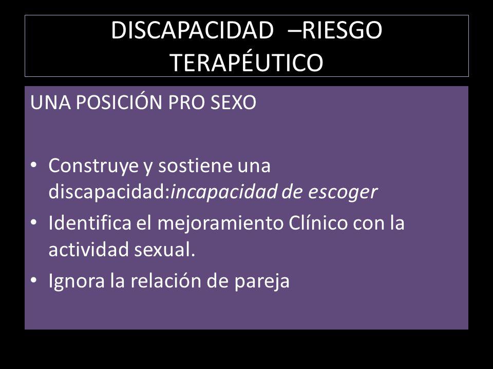 DISCAPACIDAD –RIESGO TERAPÉUTICO