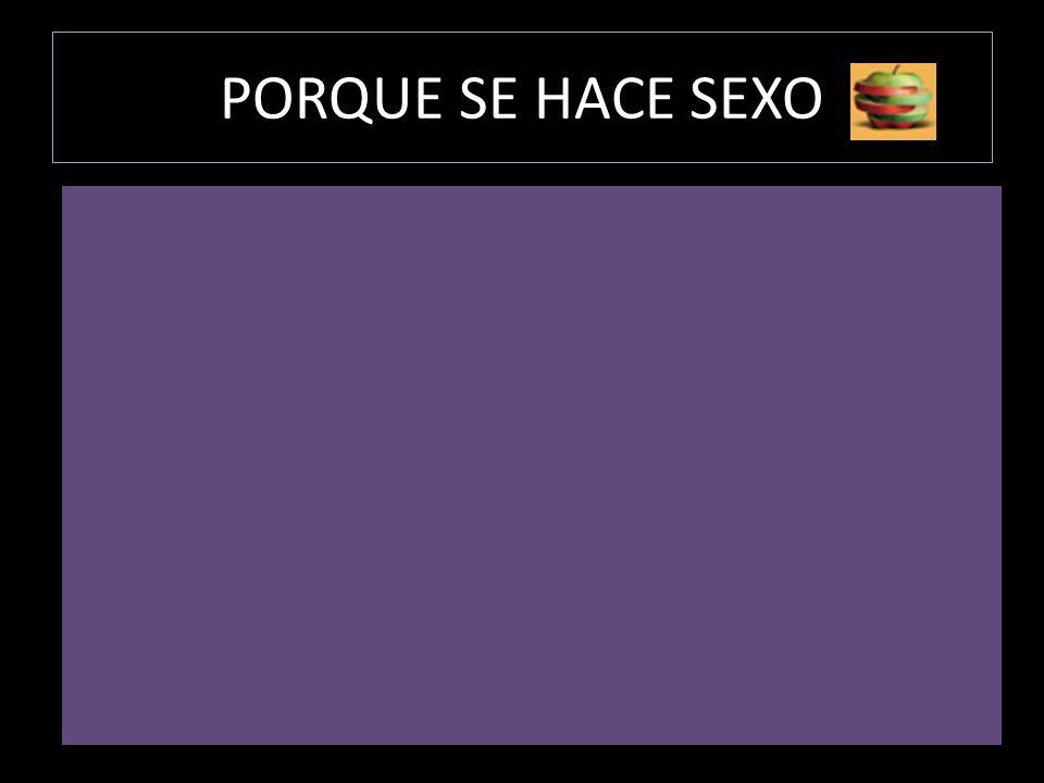 PORQUE SE HACE SEXO