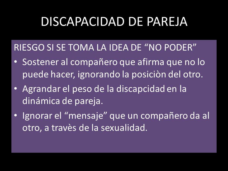 DISCAPACIDAD DE PAREJA