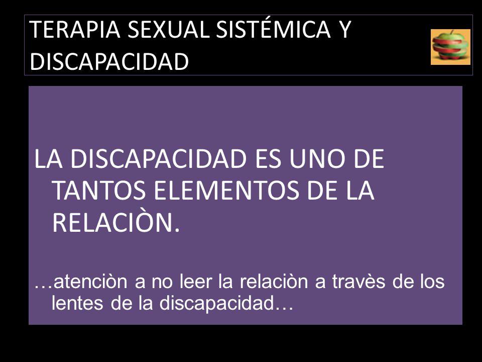 TERAPIA SEXUAL SISTÉMICA Y DISCAPACIDAD