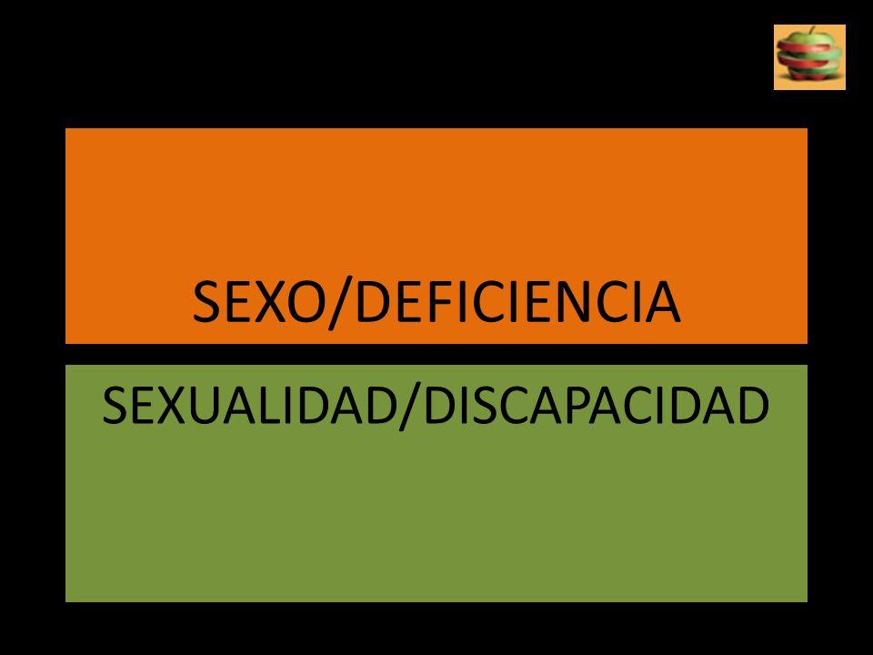 SEXUALIDAD/DISCAPACIDAD
