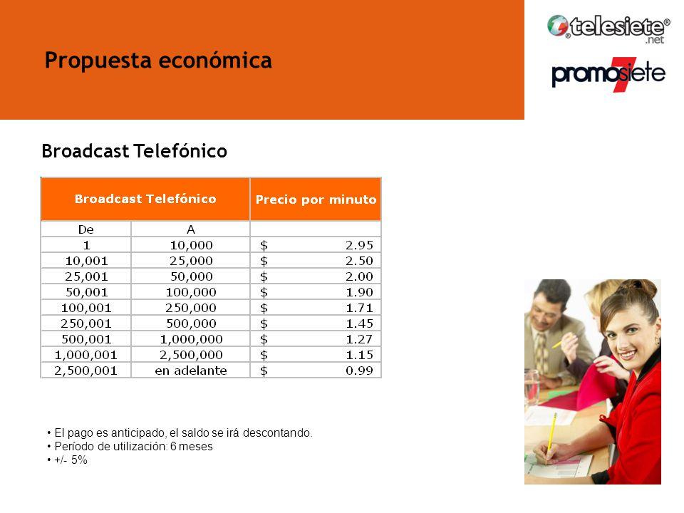 Propuesta económica Broadcast Telefónico
