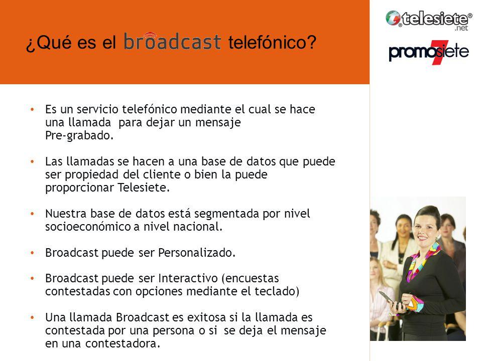 ¿Qué es el telefónico ¿Qué es broadcast telefónico