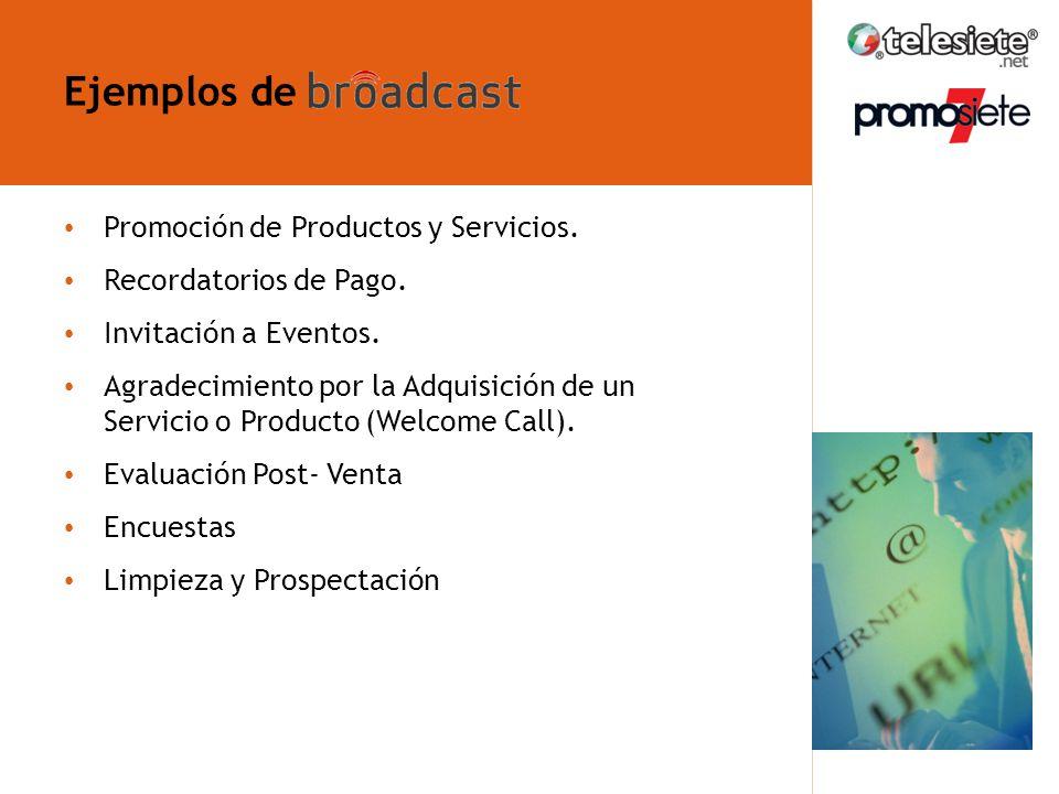 Ejemplos de ¿Qué es broadcast telefónico