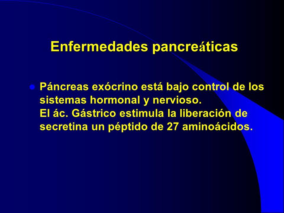 Enfermedades pancreáticas