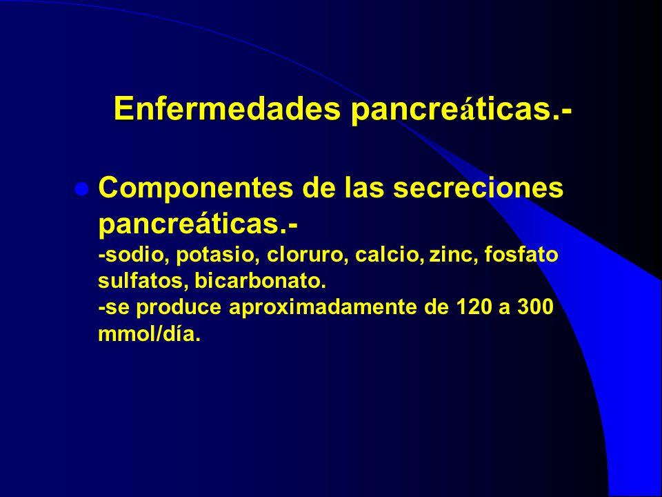 Enfermedades pancreáticas.-
