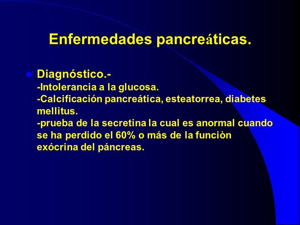 Enfermedades pancreáticas.