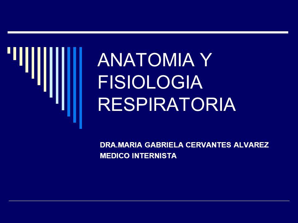 ANATOMIA Y FISIOLOGIA RESPIRATORIA