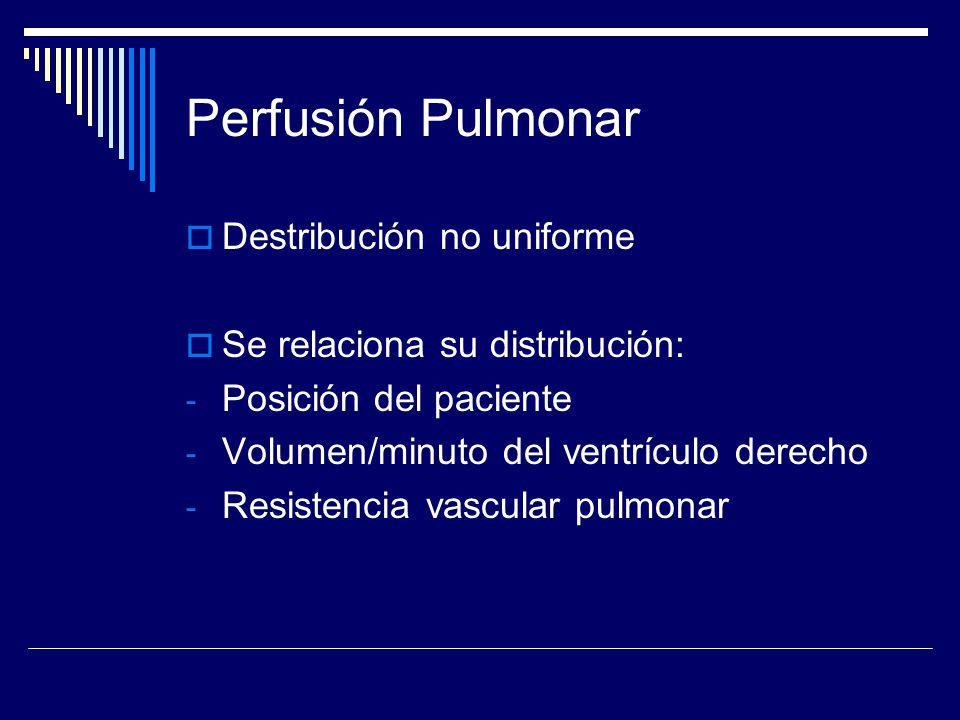 Perfusión Pulmonar Destribución no uniforme