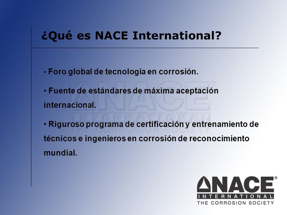 ¿Qué es NACE International