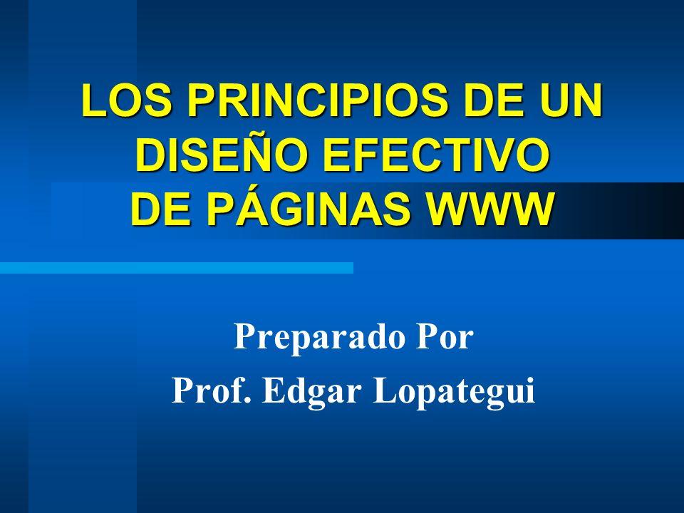 LOS PRINCIPIOS DE UN DISEÑO EFECTIVO DE PÁGINAS WWW