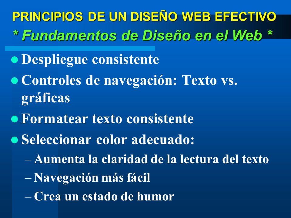 PRINCIPIOS DE UN DISEÑO WEB EFECTIVO