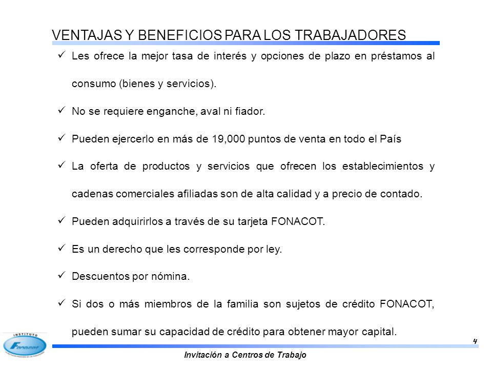 VENTAJAS Y BENEFICIOS PARA LOS TRABAJADORES