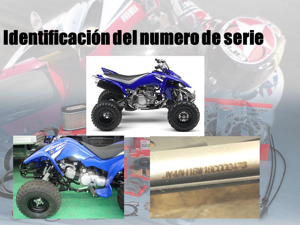 Identificación del numero de serie