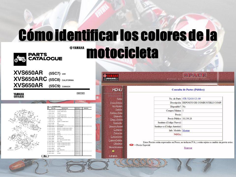 Cómo identificar los colores de la motocicleta