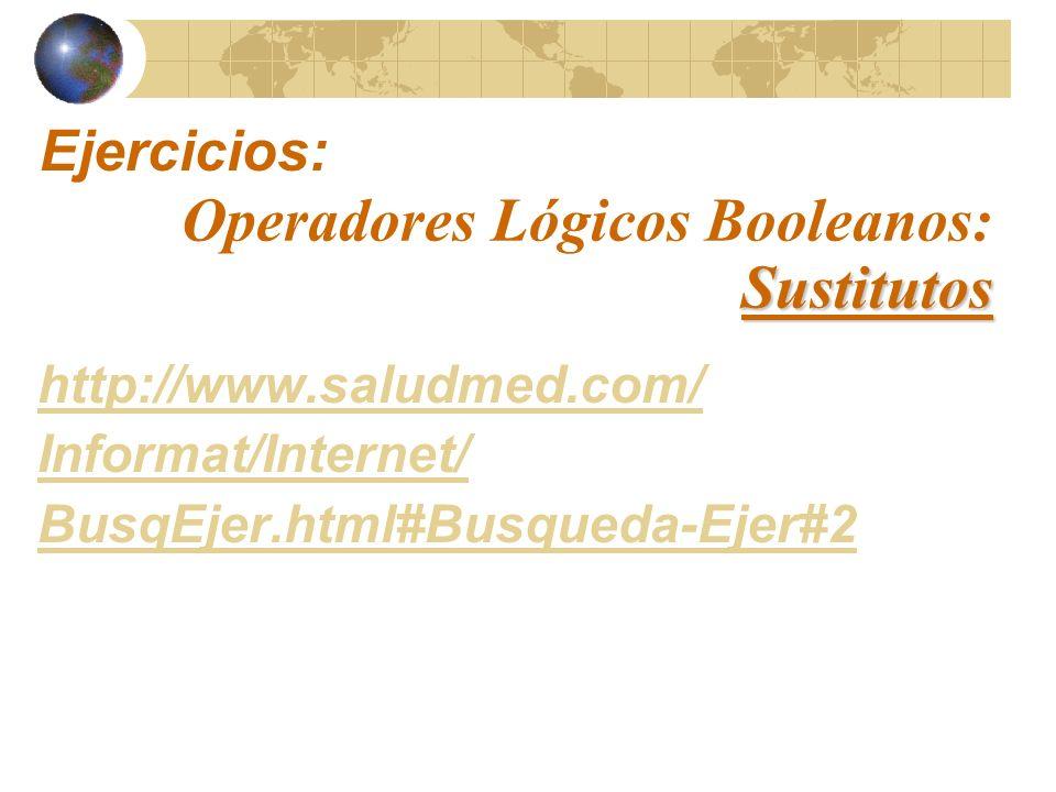 Operadores Lógicos Booleanos: Sustitutos