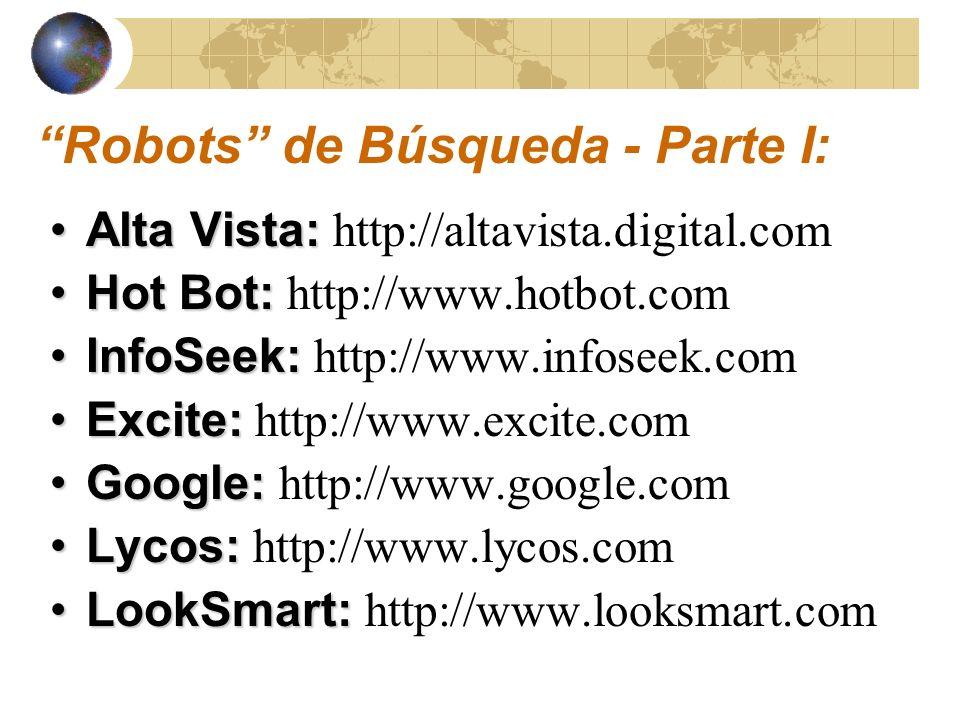 Robots de Búsqueda - Parte I: