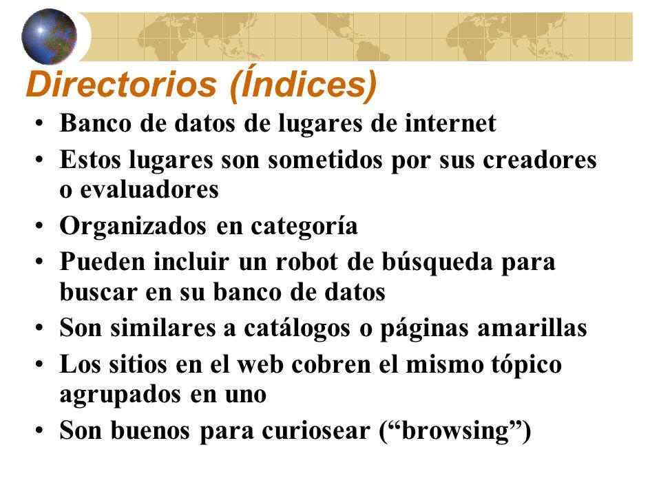 Directorios (Índices)
