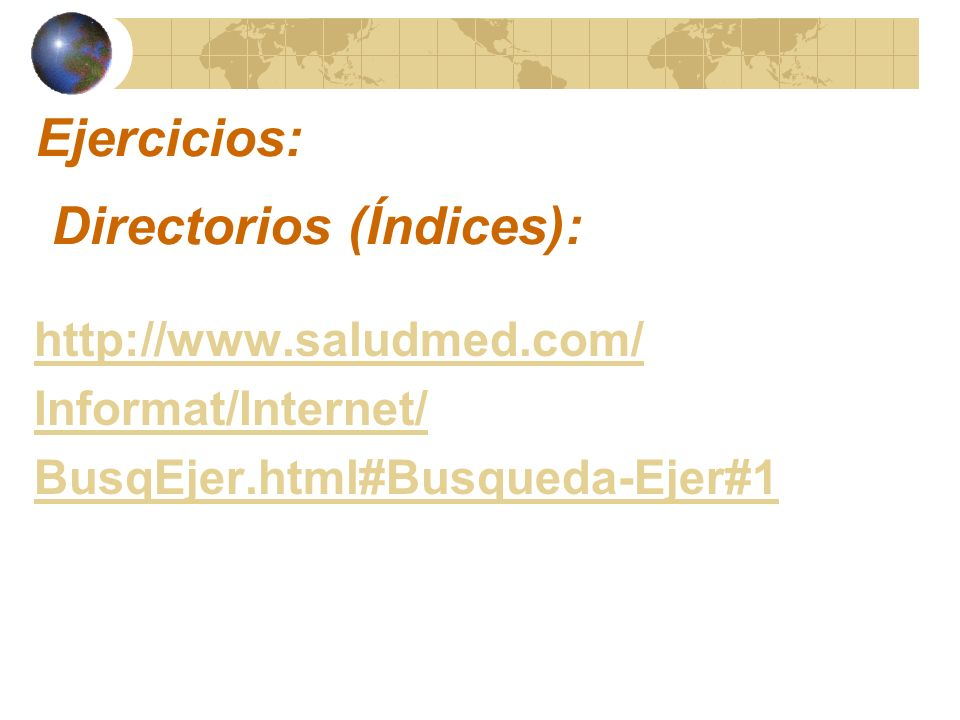 Directorios (Índices):
