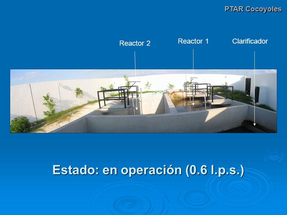 Estado: en operación (0.6 l.p.s.)