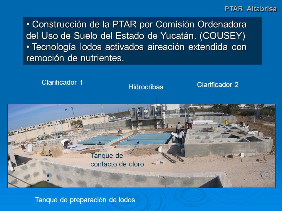 PTAR Altabrisa Construcción de la PTAR por Comisión Ordenadora del Uso de Suelo del Estado de Yucatán. (COUSEY)