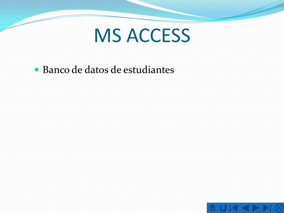 MS ACCESS Banco de datos de estudiantes