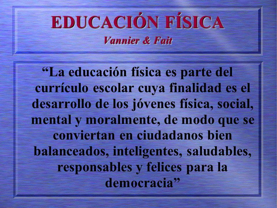 EDUCACIÓN FÍSICA Vannier & Fait