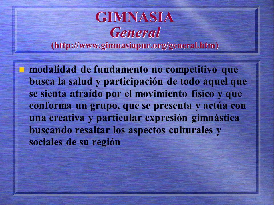 GIMNASIA General (http://www.gimnasiapur.org/general.htm)