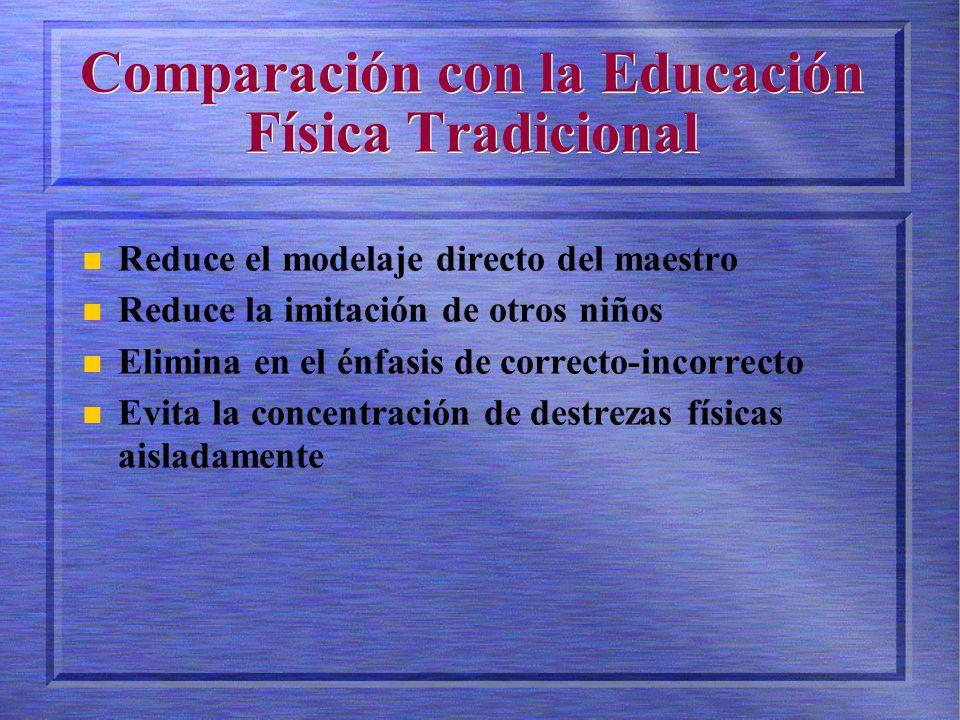 Comparación con la Educación Física Tradicional