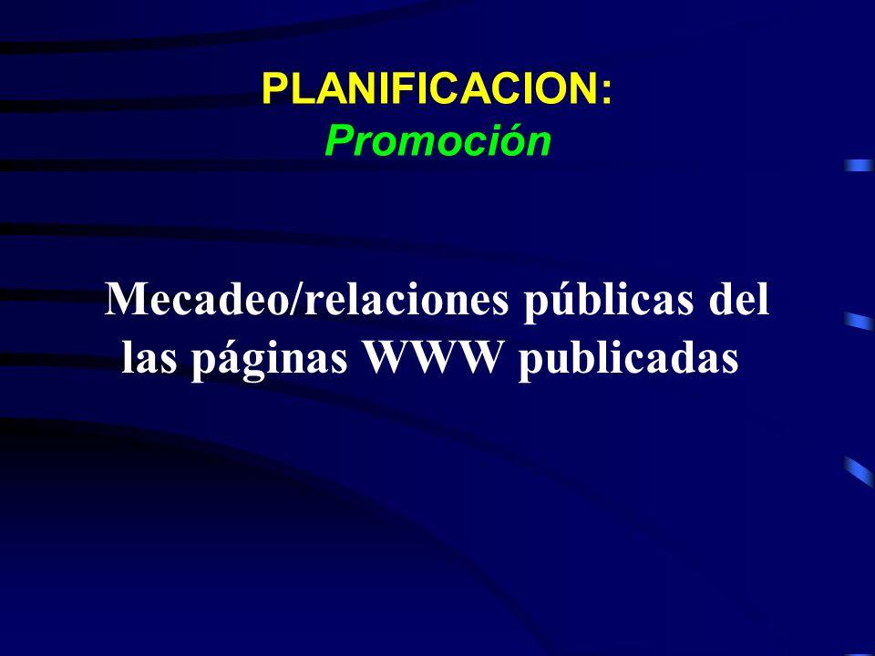 PLANIFICACION: Promoción