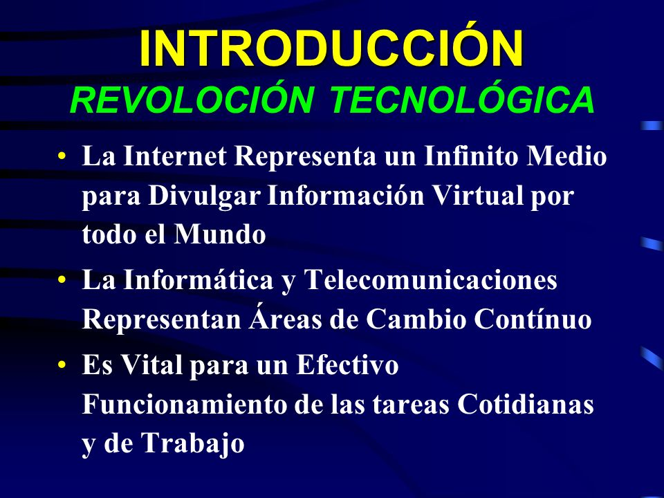 INTRODUCCIÓN REVOLOCIÓN TECNOLÓGICA