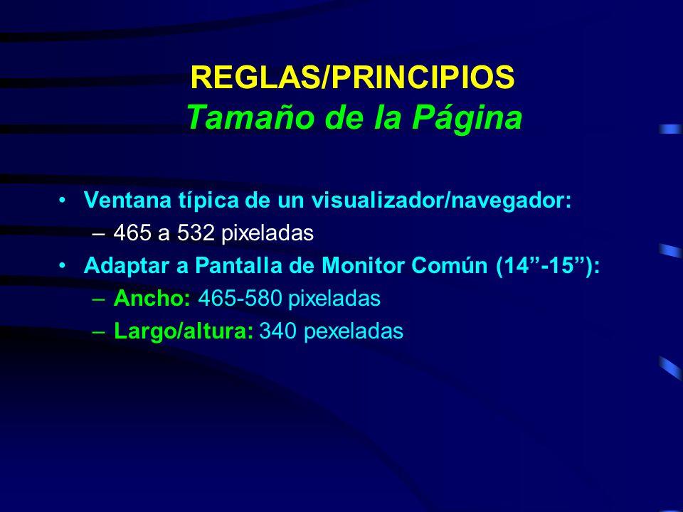 REGLAS/PRINCIPIOS Tamaño de la Página