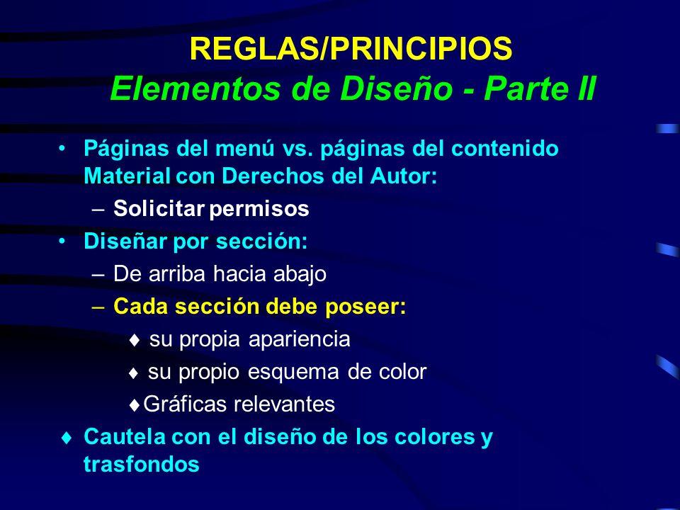 REGLAS/PRINCIPIOS Elementos de Diseño - Parte II