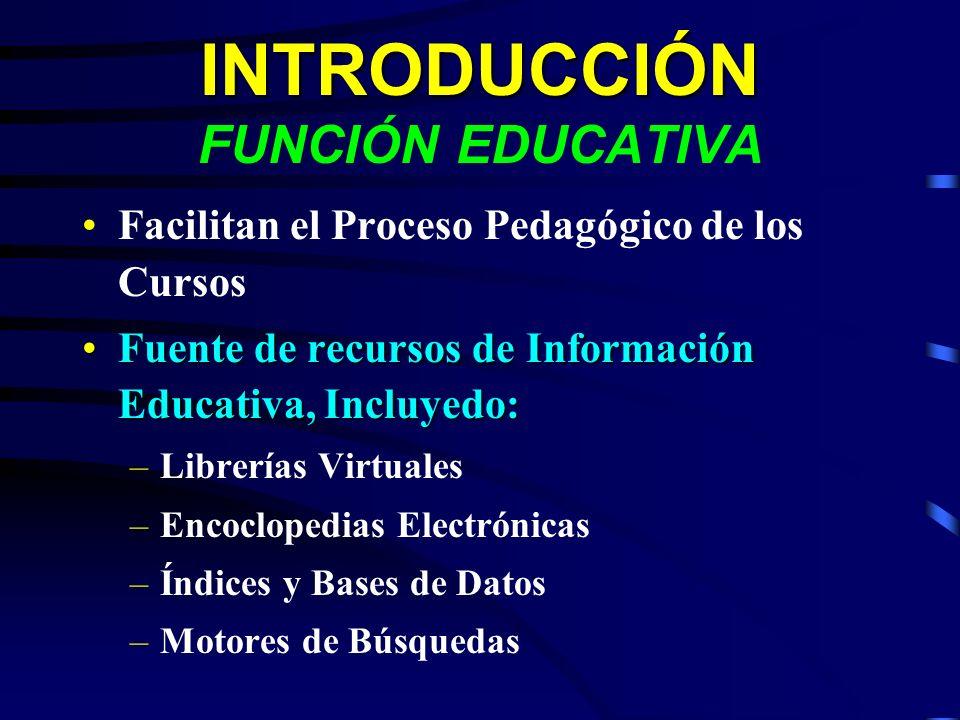 INTRODUCCIÓN FUNCIÓN EDUCATIVA