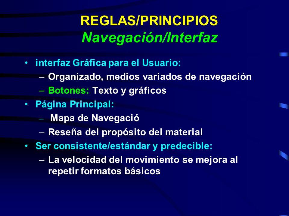 REGLAS/PRINCIPIOS Navegación/Interfaz