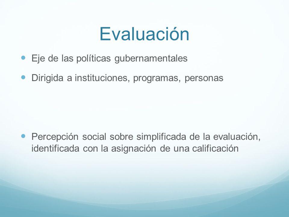 Evaluación Eje de las políticas gubernamentales