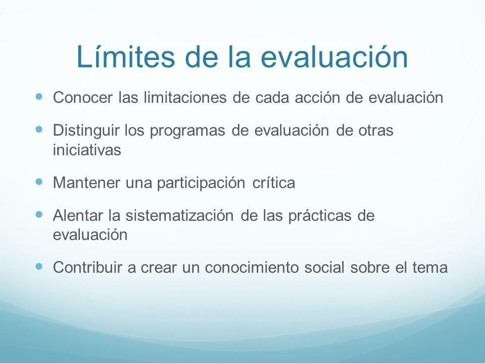 Límites de la evaluación