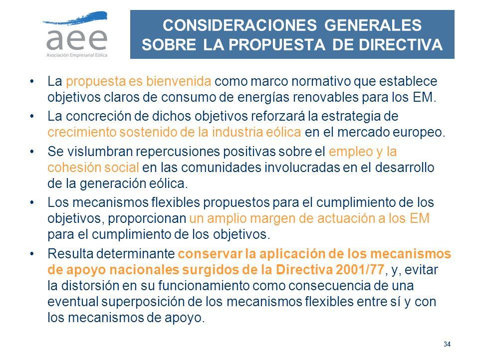CONSIDERACIONES GENERALES SOBRE LA PROPUESTA DE DIRECTIVA