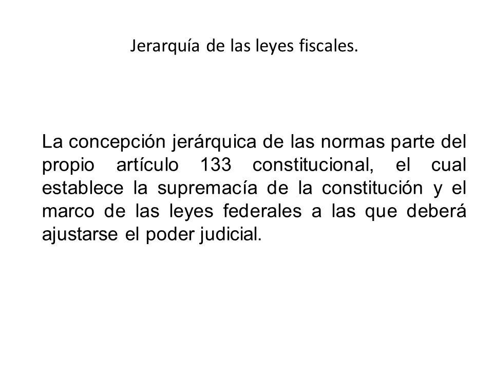 Jerarquía de las leyes fiscales.