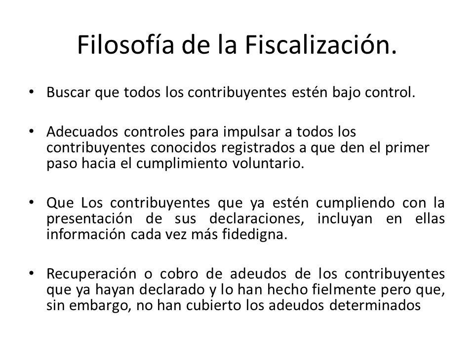 Filosofía de la Fiscalización.
