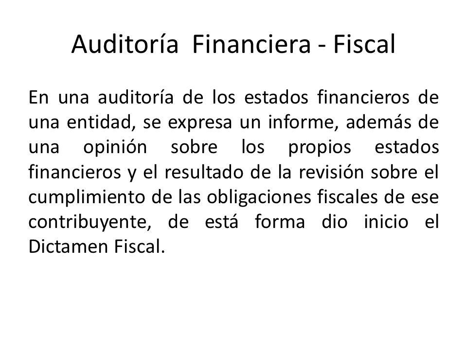 Auditoría Financiera - Fiscal