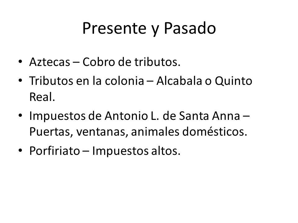 Presente y Pasado Aztecas – Cobro de tributos.