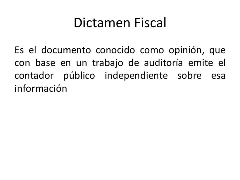 Dictamen Fiscal