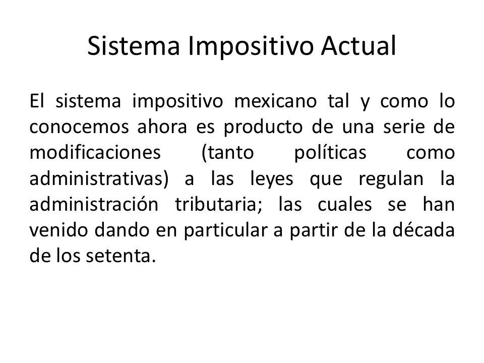 Sistema Impositivo Actual
