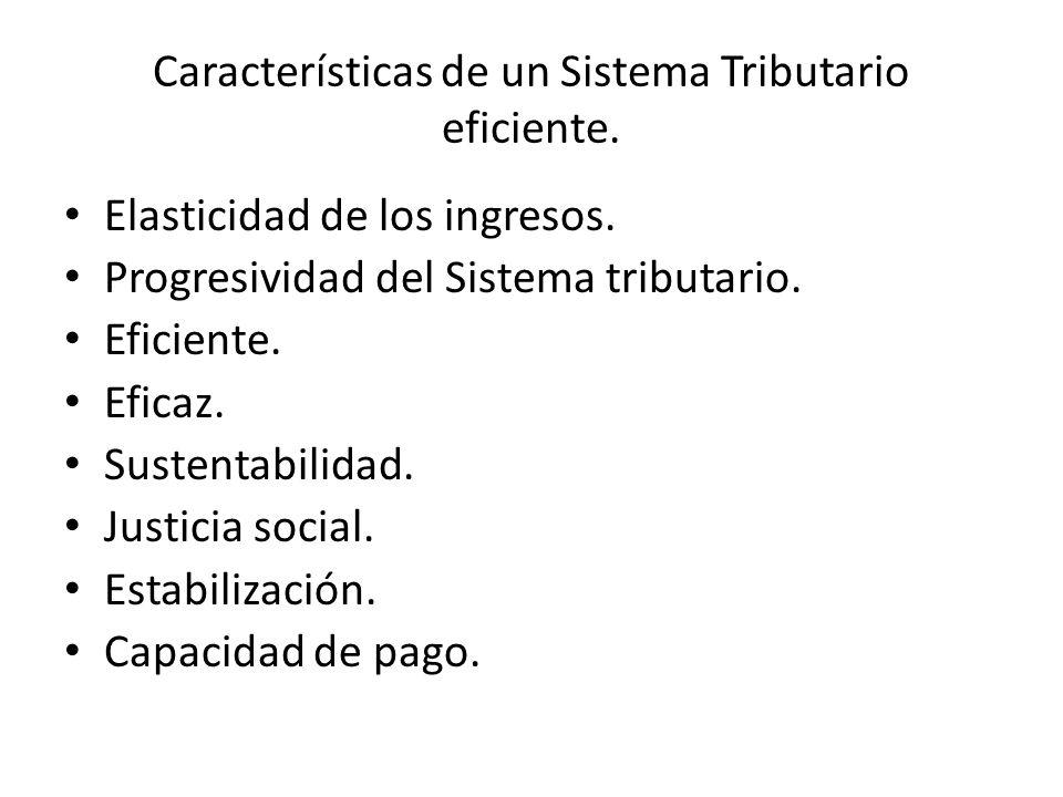 Características de un Sistema Tributario eficiente.