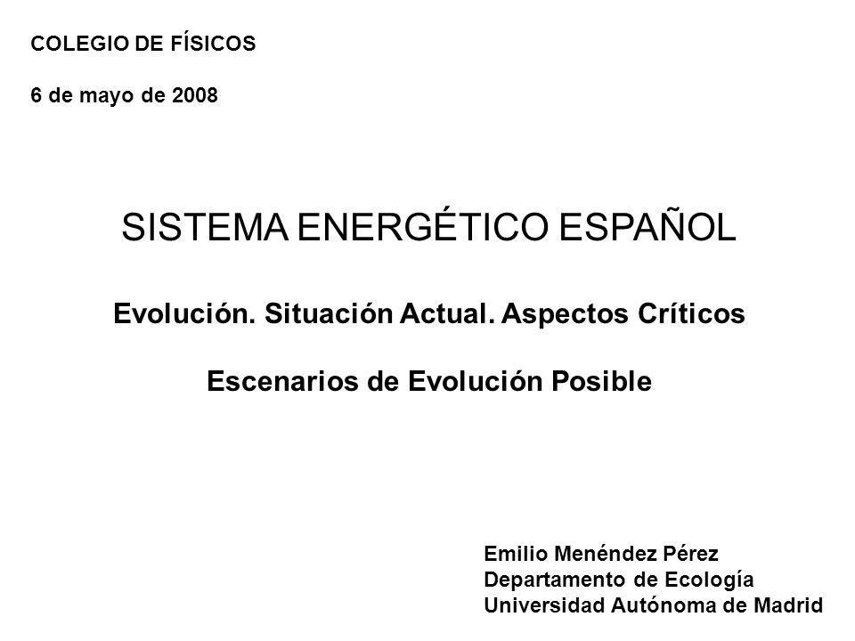 SISTEMA ENERGÉTICO ESPAÑOL