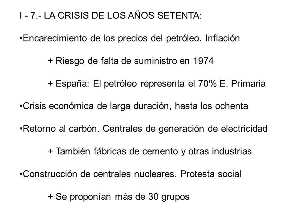 I - 7.- LA CRISIS DE LOS AÑOS SETENTA: