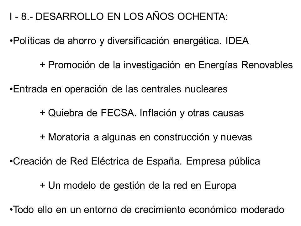 I - 8.- DESARROLLO EN LOS AÑOS OCHENTA: