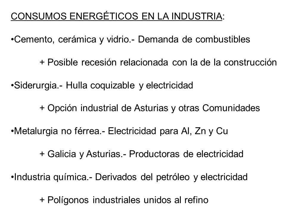 CONSUMOS ENERGÉTICOS EN LA INDUSTRIA: