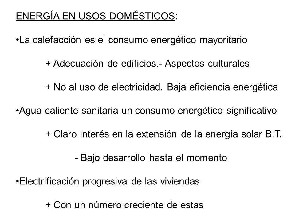 ENERGÍA EN USOS DOMÉSTICOS: